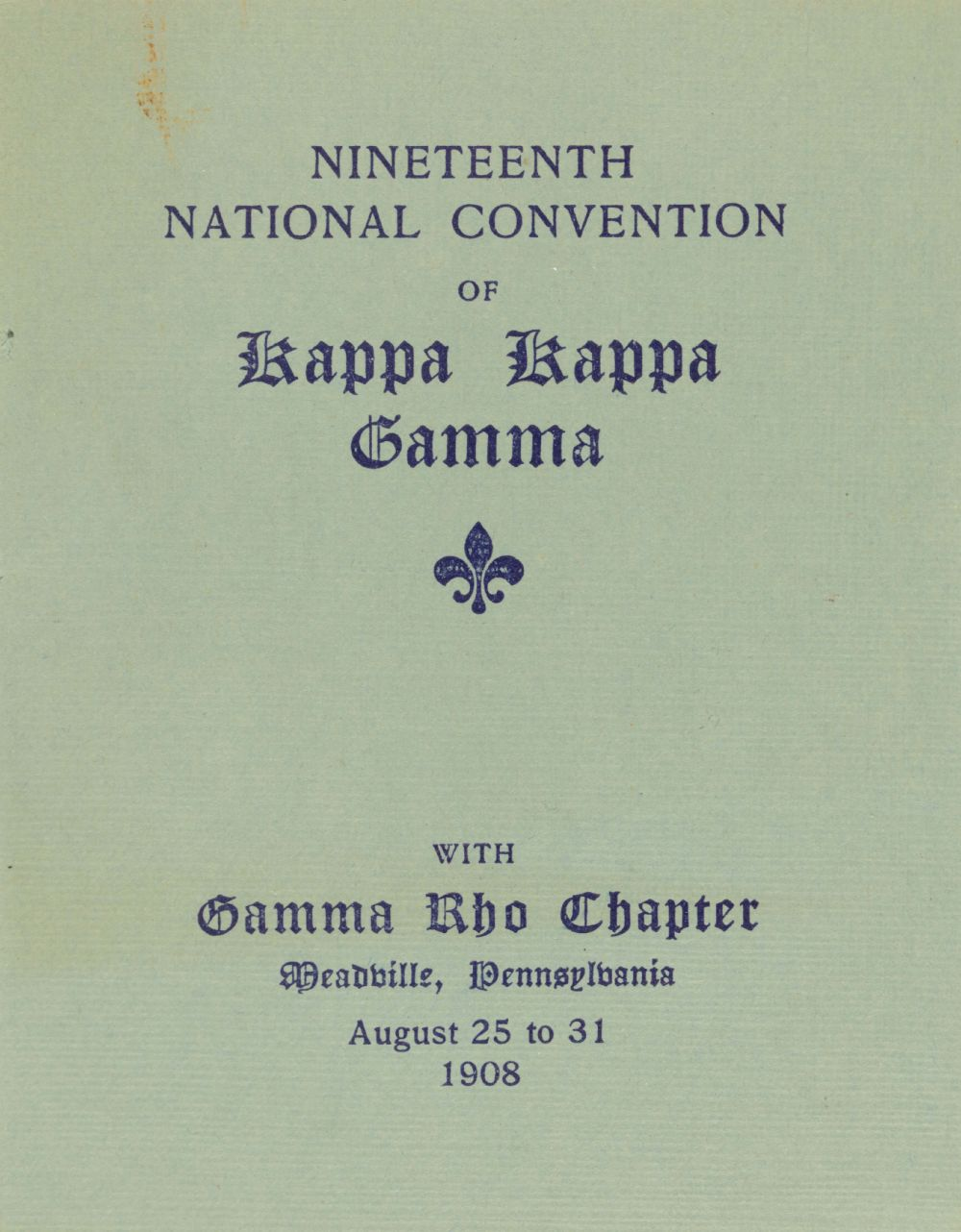 Image, 1908 National Convention